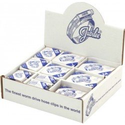 JUBILEE Hose Clips In Branded Boxes In A Handypack Dispenser