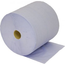 Blue Paper Wipes - Large Rolls