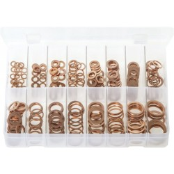 Assortment Box of Copper Sealing Washers - Metric