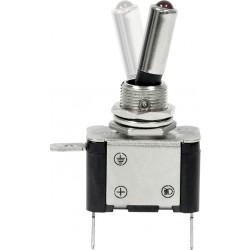 12V LED Metal Toggle Switch - On/Off