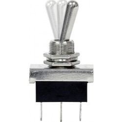 12V Metal Toggle Switch - On/Off/On