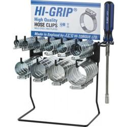 JCS 'Hi-Grip' Hose Clips Dispenser with 100 Clips