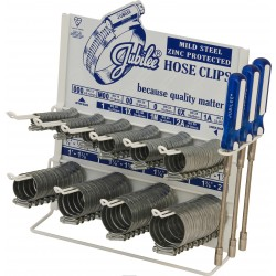 JUBILEE  Hose Clips Dispenser with 100 Clips and 3 x Hose Clip Drivers