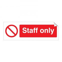 Staff Only 120 x 360mm Sticker
