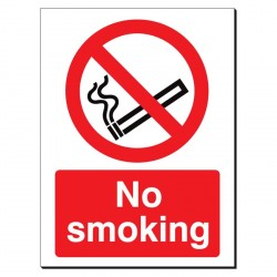 No Smoking 480 x 350mm Sign