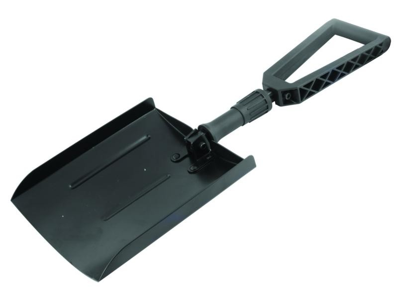 laser folding snow shovel
