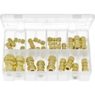Assortment Box of Tube Couplings Brass - Imperial