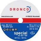 DRONCO 'Special' Mini Metal Cutting Discs