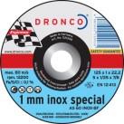 DRONCO '1 mm Inox Special' Flat Metal Cutting Discs