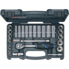 "KS TOOLS 'CHROMEplus®' 3/8"" Drive Regular & Deep Socket Set"