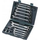 KS TOOLS 'GEARplus®' Reversible Ratchet Combination Spanner Set with Adaptors