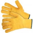 Yellow Kriss-Kross Gripper Gloves