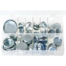 Assortment Box of Core Plugs Cup Type - Metric