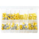 Assortment Box of Terminals Insulated - Yellow