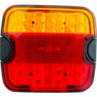 "4"" LED Multifunctional Tail Lamp - Stop/Tail/Indicator/Number Plate"