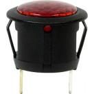 12V LED Warning Light - Round