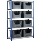 BSS Space Bin Containers and Extra Wide Shelving System