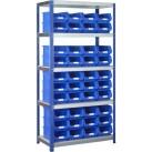 BSS Blue Storage Bin and Standard Shelving System