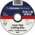 The Workshop Warehouse 1 mm Thin Flat Cutting Disc