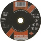 BIBIELLE 1.0 mm Thin Cut-offFlat Metal Cutting Discs