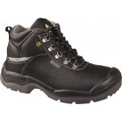 DELTAPLUS Water Resistant Leather Hiker Safety Boots - Black