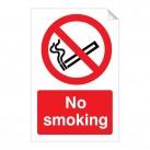 No Smoking 240 x 360mm Sticker