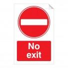 No Exit 240 x 360mm Sticker