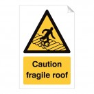 Caution Fragile Roof 240 x 360mm Sticker