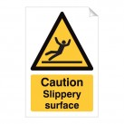 Caution Slippery Surface 240 x 360mm Sticker