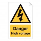 Danger High Voltage 240 x 360mm Sticker