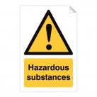 Hazardous Substances 240 x 360mm Sticker