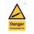 Danger Compressed Air 240 x 360mm Sticker