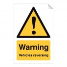 Warning Vehicles Reversing 240 x 360mm Sticker