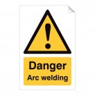 Warning Arc Welding 240 x 360mm Sticker