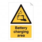 Battery Charging Area 240 x 360mm Sticker