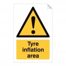 Tyre inflation area 240 x 360mm Sticker
