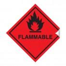 Flammable 100 x 100mm Sticker