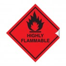 Highly Flammable 100 x 100mm Sticker