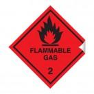 Flammable Gas 100 x 100mm Sticker