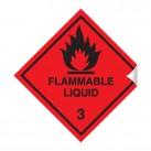 Flammable Liquid 100 x 100mm Sticker