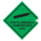 Non-Flammable Compressed Gas 100 x 100 Sticker
