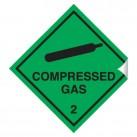 Compressed Gas 100 x 100mm Sticker
