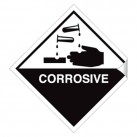 Corrosive 100 x 100mm Sticker