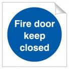 Fire Door Keep Closed 120 x 120mm Sticker