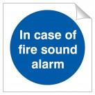 In Case Of Fire Sound Alarm 120 x 120mm Sticker