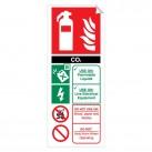 CO2 (Carbon Dioxide) 250 x 100mm Sticker