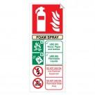 Foam Spray 250 x 100mm Sticker