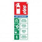 Dry Powder 250 x 100mm Sticker