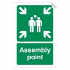 Assembly Point 240 x 360mm Sticker