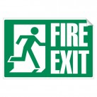 Fire Exit 240 x 360mm Sticker